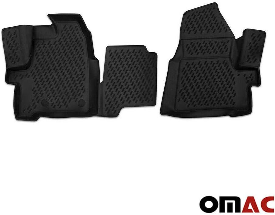 Gummifußmatten für Ford Tourneo Custom 3-Sitzer 1+2 2012-2018 Passgenau