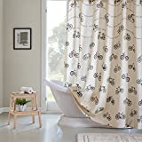 Cotton Duck Shower Curtain HipStyle HPS70-0006 Raleigh Cotton Printed Shower Curtain 72x72 Multi,72x72