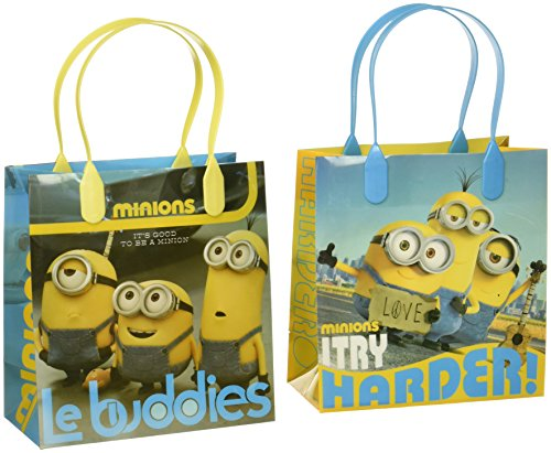 Universal Studios Despicable Me Minions Le Buddies Premium Quality Party Favor Goodie Small Gift Bags 12]()