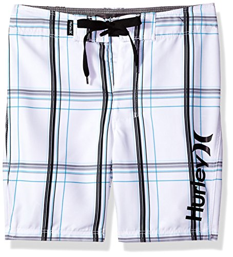 Hurley Little Boys' Board Shorts, White, 5