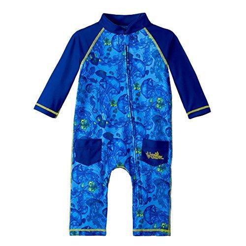 UV SKINZ UPF50+ Baby Boy Sun & Swim Suit-Ocean Blue Jellyfish (12/18 M) by UV SKINZ