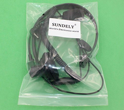 SUNDELY® Over-Head Earpiece/Headset Boom Mic PTT-VOX Switch for Cobra Micro-Talk 2 Two Way Radio Walkie Talkie MT600 PR3180 CXT545 1-pin
