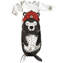 Baby Long Sleeve Onesies SleepSack Cotton Wearable Blanket Slumber Bag Mermaid Tail Shark Sleeping Bag Baby Boys Girls Clothes(6-12 Months)