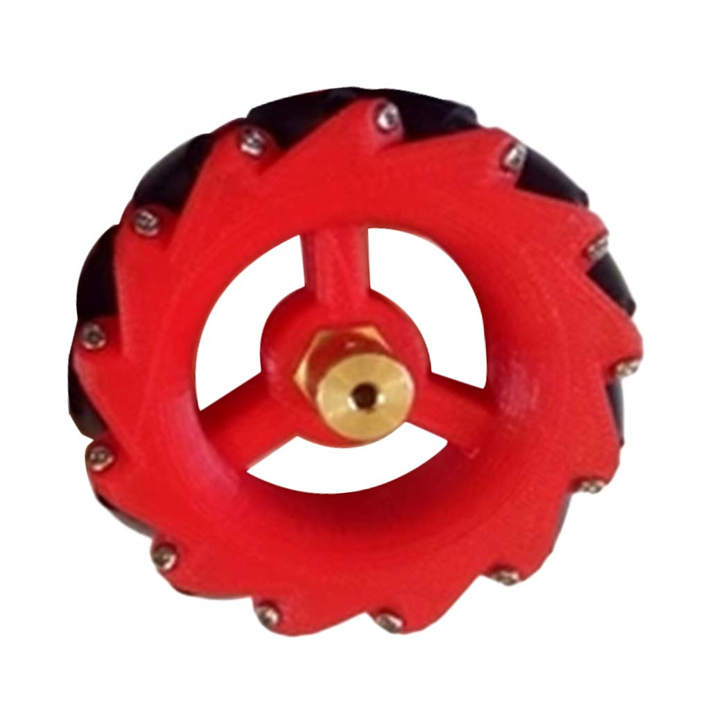 Almencla Acrylic Universal Wheel Mecanum Wheels with Coupling Any Direction Can Be Moved Black