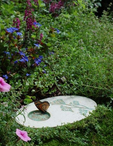 - Outdoor Butterfly Puddling Stone for Pollinators and Garden Decor