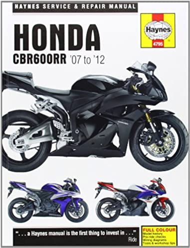 honda cbr600rr service and repair manual 2007 2012 haynes service rh amazon com 2006 honda cbr600rr owners manual 2006 honda cbr 600 service manual pdf