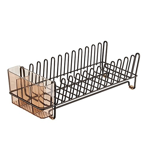 InterDesign Compact Kitchen Dish Drainer Rack for Drying Gla
