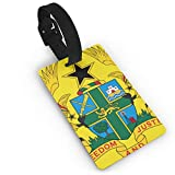 KODW12 Coat of Arms of Ghana Luggage Tag Travel Bag Labels Suitcase Bag Tag Name Address Cards