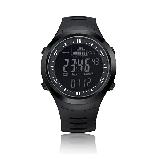 NORTH EDGE Men's Outdoor Digital Sport Watch Electronic Army LED Back Light Display Alarm Stopwatch 50M Water Resistant Multifunction Wrist Watch