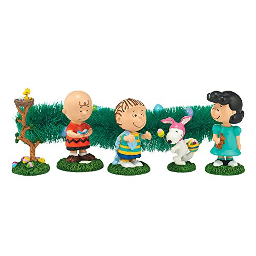 Peanuts Charlie Brown Easter Egg Hunt 6 Piece Figurine Set by Department 56