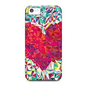 Happycases2005 Iphone 5c Hybrid Tpu Cases Covers Silicon Bumper Heart Abstract
