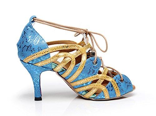 Minitoo Femme QJ7165 Blue 7 MinitooUK 5 EU 5 Danse Salon Cm Heel 36 Bleu de XprXxw5f