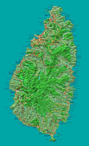 Gifts Delight Laminated 24x39 Poster: St Lucia map ()