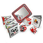 Genius Baby Toys Infant Development Toys Gift Bundle - Black, White & Red.