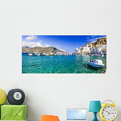 Beautiful Islans Greece Karpathos Wall Mural by Wallmonkeys Peel and Stick Graphic (48 in W x 22 in H) WM369469 (Capital 48 Inch Natural)