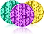 3 Pcs Push pop pop Bubble Sensory Fidget Toy,Autism Special Needs Stress Reliever Silicone Stress Reliever Toy