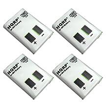 HQRP 4-pack Batteries for Motorola M53617, KEBT-086-A, KEBT-086-B, KEBT-086-C, KEBT-086-D Two-Way Radio + HQRP Coaster