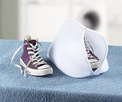 Wenko Saco Lavadora para Zapatos, Poliéster, Blanco, 23x40x23 cm ...