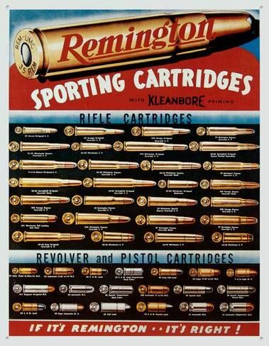 KPSheng Remington Sporting Cartridges 12 x 16 Metal Sign