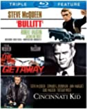 Steve McQueen Triple Feature (Bullitt / Cincinnati Kid / Getaway) [Blu-ray]