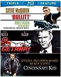 Steve McQueen Triple Feature (Bullitt / Cincinnati Kid / Getaway) [Blu-ray]