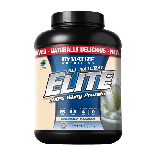 Dymatize All Natural Elite 100% Whey Protein, Gourmet Vanilla, 5 lbs (Powder Dymatize Elite Protein Whey)