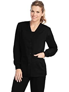 71cf3e2fbf3 Grey's Anatomy Women's 4435 Junior Fit 4 Pocket Sport Button Front Scrub  Jacket