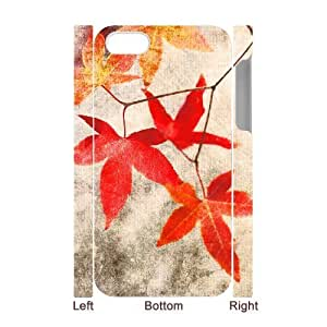 Maple Leaf 3D-Printed ZLB572962 Brand New 3D Phone Case for Iphone 4,4S