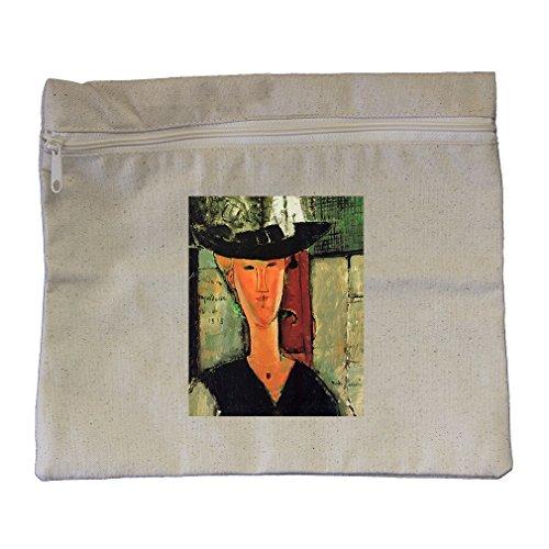 Madame Pompadour (Modigliani) Canvas Zippered Pouch Makeup Bag