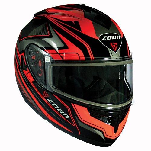 Zoan Optimus Snow Eclipse Orange Dual Lens Modular Flip Up Snowmobile Riding Helmet - Modular Helmet Snow Eclipse
