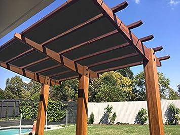 E.Cover Panel de Sombra de Malla para el Sol, 90% de Sombra UV, con Ojales para Patio, pergola, anopio, Color Negro: Amazon.es: Jardín