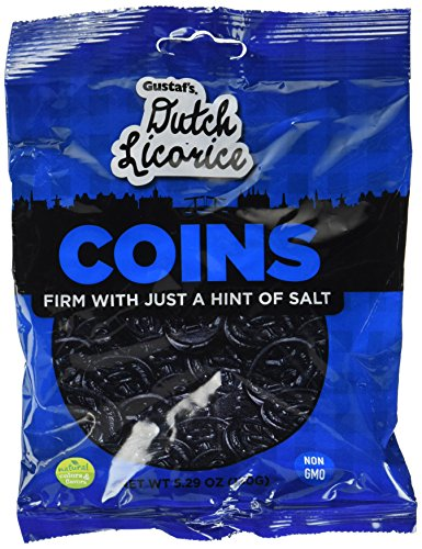 Gustaf's Dutch Licorice Coins - Bag of 5.2oz - 150g