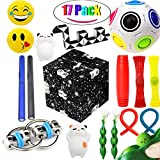 The Ultimate Sensory Fidget Toys Kit 20 Packs Fidget Cube/Infinity Cube/Squishy Ball/Squeeze Bean/Fidget Pen/Rainbow Magic Balls/Twisted Toy For Kids&Adult ADD ADHD Stress Relax Prime