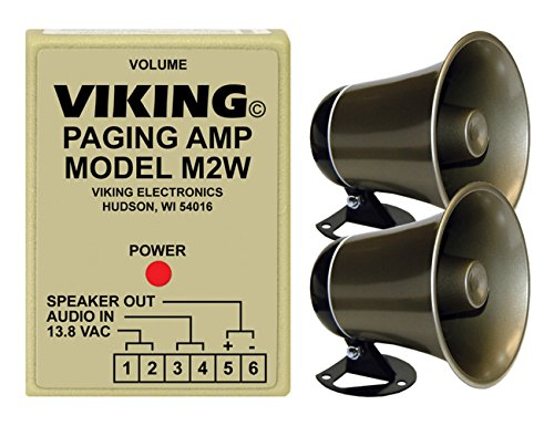 Viking Loud Call Announce/Ringing and Paging Power Amplifier with One Powered Speaker