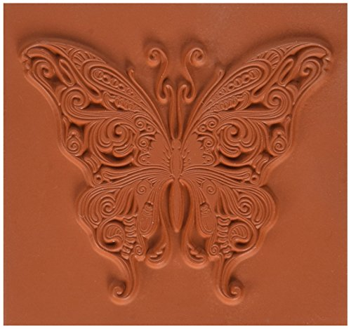 Butterfly Swirl Rubber Stamp<br><b>Use with acrylic block, not included.</b>
