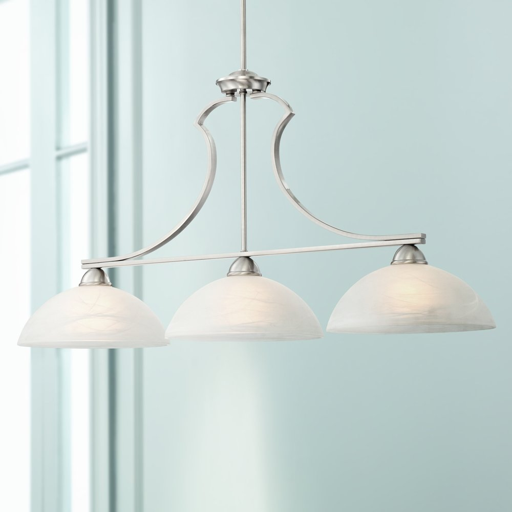 Milbury Collection Satin Nickel 3-Light Island Chandelier - - Amazon.com