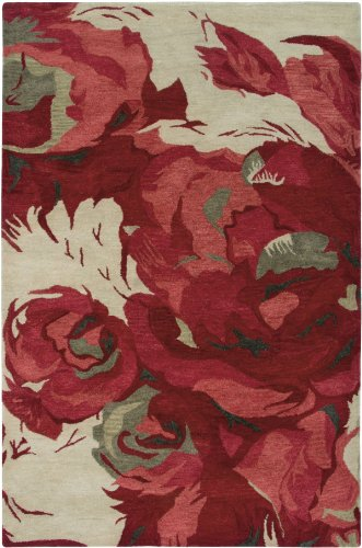 Rizzy Home Highland Collection Wool Area Rug, 2 6 x 8 , Red Gray Rust Blue Floral