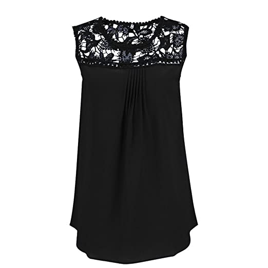 Tank Tops, Womens Summer Summer Lace Splice Chiffon Comfort Vest Cami Crop FORUU