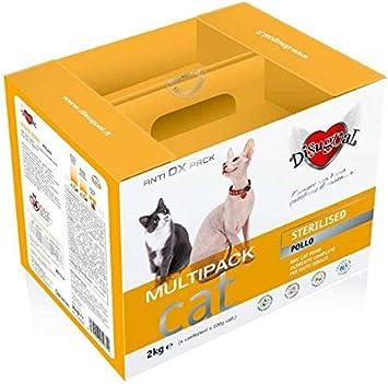 Disugual Multipack mantenimiento Sterilised Pollo 2 kg (4 x 500 g-) pienso completo de bolsas para comida de adultos esterilizados gato: Amazon.es: Deportes y aire libre