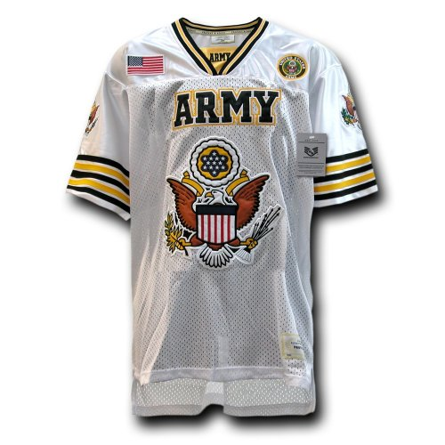 Rapiddominance Army Eagle Football Jersey, White, Medium