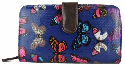 Miss Lulu–Bolso bandolera para niñas, diseño de mariposa Purse Navy