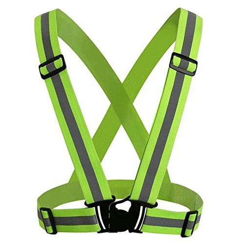 Seroda Reflectante Chaleco, Seguridad Alta Visibilidad Running Cinturon Para Paseos Ciclismo Deportes al Libre Ajustable...