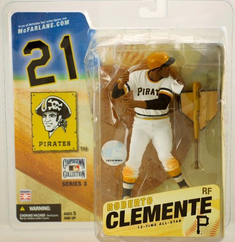 Roberto Clemente McFarlane Cooperstown Baseball Figure (White Jersey) - Mint Condition In Original Package!!