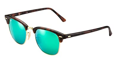 6b296d48c735 Image Unavailable. Image not available for. Color  Ray Ban RB3016 114519 51  Havana Gold Green Mirror Clubmaster ...