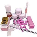 Warm Girl Nail Art Kit DIY Acrylic Liquid Powder Buffer Form Pen Dappen Dish Tools Set