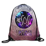 Gtaiquxin 5 Seconds Of Summer 5 Sos Unisex Drawstring Gym Sack Sport Bag