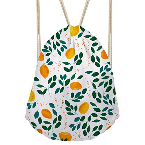 Stylish Gym Sack Women Floral Print Drawstring Backpack Sport Walking Rucksack - Floral Collector