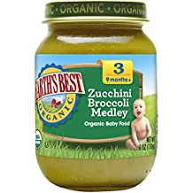 Earth's Best Organic Stage 3, Zucchini & Broccoli Medley, 6 Ounce Jar (Pack of 12)