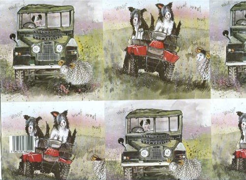 alex-clark-border-collies-land-rover-gift-wrapping-paper-2-sheets-195-inches-x-275-inches