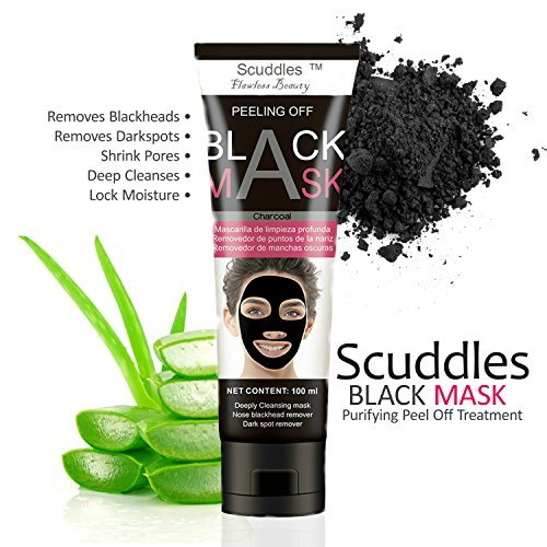 (Blackhead Remover Face Black Mask - Peel Off Purifying Quality Black Peel off Charcoal Mask - Best Mud Facial Mask Packaging May Vary (SC-BM-03))